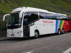 Weardale of Stanhope Irizar I6 Integral YN18ZNR, in Trafalgar Tours livery, at Johnston Terrace, Edinburgh, on 1 July 2019. (Robin Dickson 1) Tags: busesedinburgh yn18znr irizari6integral trafalgartours weardaleofstanhope