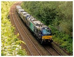6D43 - 9th August. (peterdouglas1) Tags: directrailservices 6d43 class88 stadler treborth