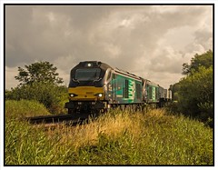 6D43 - 12th (peterdouglas1) Tags: directrailservices valleyflasks 6d43 northwalescoastrailway vossloh 68001 68004