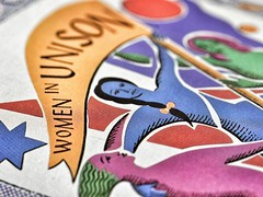 unite - for macro mondays 'the printed word' (Emma Varley) Tags: macromondays theprintedword poster women unite unison tradeunion history