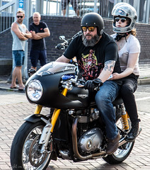 Poole Bike Night-Triumph (Caught On Digital) Tags: bikemeet bikers choppers custom dorset motorbikes motorcycles poole triumph