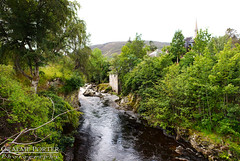 Braemar River Pano - Edited (406highlander) Tags: braemar canoneos6d tamronsp2470mmf28divcusd scotland marr aberdeenshire cairngorms river panorama tree town water rapids cluniewater stream scenic