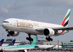 A6-EGZ - Emirates B777-300ER (✈ Adam_Ryan ✈) Tags: dub eidw dublinairport 2019 dublinairport2019 emirates b777 b777300er a6egz ek161 dubai landing runway28 touchdown aviation canon 100400liiisusm 100400 lseries august