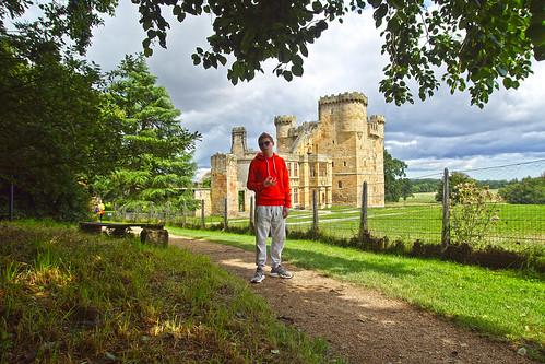 Luke at Belsay Castle