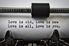 Love is You (Bernie Emmons) Tags: macromondays printedword typewriter beatles old royalfpelite