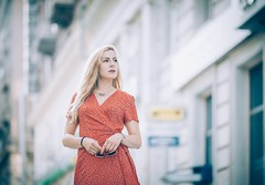 Urbanistica (Pavel Valchev) Tags: woman city 135mm tele wideopen bokeh dof architecture sofia bulgaria sony a7iii a7m3 emount ilce vsco ef lens manual mf portrait glamour samyang