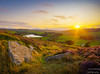 This evenings sunset in Bronte Country (Dave2638) Tags: yorkshire haworth westyorkshire heather sunset dusk evening landscape scenic rock sun blue sky