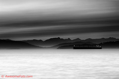 Black vs White (james c. (vancouver bc)) Tags: bc britishcolumbia canada cloud cloudscape coast coastline evening glow landscape mountains nature northamerica ocean outdoor sea ship silhouette sky sunset travel vancouver wave black white blackandwhite