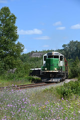 Mineral Range departing Eagle Mine.. (CN Southwell) Tags: mineral range rr railroad upper peninsula michigan shortline