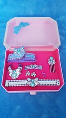 Barbie Perfume Pretty Jewelry Mint Green Collection #4633 from 1987 (VintageZealot) Tags: barbie mattel perfume pretty jewelry mint green collection 4633 pink 4632 1987 1980s 80s silver mauve lilac lavender purple accessories belt bracelet necklace earrings earring studs ring decorative hair pick comb bow hong kong case box vintage retro fashion doll