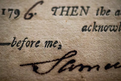 Macro Monday: Old Deed: Printed Word (Glotzsee) Tags: macro printedword macromondays