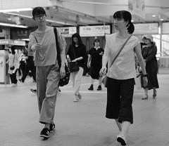 Mother and daughter in sync (Bill Morgan) Tags: fujifilm fuji xpro2 35mm f14 bw alienskin exposurex45 jpeg acros