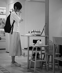 Sampling fragrances (Bill Morgan) Tags: fujifilm fuji xpro2 35mm f14 bw alienskin exposurex45 jpeg acros