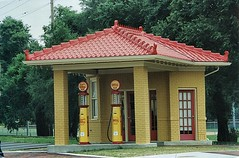 Lebanon Ohio - Restored Shell Gasoline Station - Warren County (Onasill ~ Bill Badzo) Tags: america american antique business city classic commercial companies company corporate energy gas gasoline historic historical history industry lebanon nostalgic ohio old petrol pump restoration restored shell station town united states urban usa vintage onasill photo warrencounty nrhp landmark