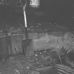 Shovel (Matthew Paul Argall) Tags: 120film 120 mediumformat blackandwhite blackandwhitefilm squareformat squarephoto shovel ilforddelta100 100isofilm