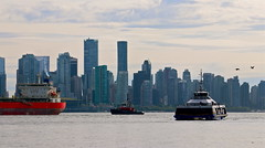 Vancouver Skyline (Setting Sun to Rising Sun) Tags: vancouver skyline bc canada harbour seabus