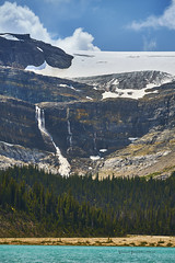 Bow glacier melting away (Valley Imagery) Tags: icefield parkway bow lake banff jasper national park trees glacier sony 70400gii a99ii waterfall nature travel tourist tripod slik