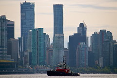 Shangri-La & Trump (Setting Sun to Rising Sun) Tags: vancouver skyline bc canada harbour seabus