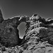In a Castle Dark or a Fortress Strong (Black & White, Arches National Park)