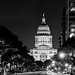 B&W Texas State Capitol at Night