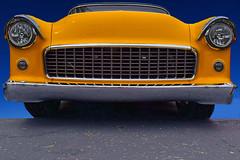 Yellow-Bellied Sap Sucker (oybay©) Tags: i17 i17freeway arizona phoenix bridge colorfulbridge unique yellow veryyellow reflection mirror chevrolet chevroletimpala convertible classiccar blue veryblue freeway interstate interstatehighway