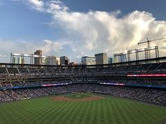 Rockies entertain Diamondbacks at Coors Field (looper23) Tags: baseball colorado rockies mlb arizona diamondbacks coors field sunset sky denver 2019 august game ballpark