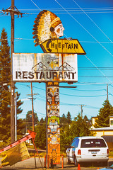 Hey Chief, What's Up? (Thomas Hawk) Tags: america chieftain chieftainrestaurant tacoma usa unitedstates unitedstatesofamerica washington washingtonstate indian neon restaurant fav10 fav25 fav50