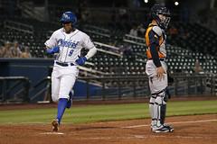 Mejia scored (Minda Haas Kuhlmann) Tags: sports baseball milb minorleaguebaseball pacificcoastleague omahastormchasers nebraska omaha papillion sarpycounty outdoors erickmejia