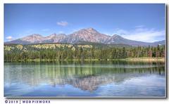 LAKE ANNETTE, JASPER NATIONAL PARK, ALBERTA, CANADA (WDB PIXWORX) Tags: hdr photomatix tonemapping topazlabs nikon d610 lakeanette jaspernationalpark canada alberta lake pyramidmountain