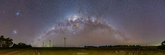 Five-galaxy Panorama (nightscapades) Tags: andromedagalaxy astronomy astrophotography australia autopanopro canberra galacticcore goulburn jupiter m31 m33 milkyway night nightscapes nsw pano panorama panos rural saturn sky southerntablelands stars stitch taralga wind windfarm