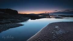 In The Blue (RTA Photography) Tags: paignton prestonbeach seascape coast dawn bluehour sea beach sand ripples rocks sky nature outdoors nikon d750 nikkor rtaphotography reflection blue clouds torbay southdevon southwest water pool cliffs