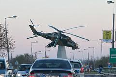 Mil Mi-24D Hind (srkirad) Tags: planespotting helicopter chopper military gunship mil mi24d hind szolnok roundabout traffic hungary dusk evening