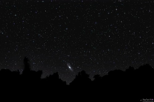 Andromeda from southern skies
