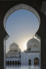 Domes of the Grand mosque (marko.erman) Tags: mosque gigantic project islam religion architecture majestic impressive beautiful masterpiece travel outside outdoor sunny sony pov minarets domes courtyard sheikhzayed abudhabi grandmosque unitedarabemirates uae onionshaped marble white