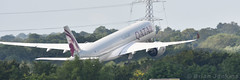 Qatar Airways Airbus A350-941 (A7-ALJ) Takeoff (Bri_J) Tags: manchesterairportviewingpark manchester uk airport aircraft airliner manchesterairport nikon d7500 qatarairways airbus a350941 a7alj takeoff a350 panorama