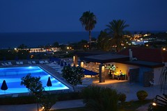 pool in the night :) (green_lover (your COMMENTS are welcome!)) Tags: night pool hotel kiotari rhodes greece dark lights blue