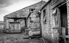 High Dyke . (wayman2011) Tags: colinhart fujifilmxf35mmf2 fujifilmxt1 lightroom5 wayman2011 bw mono rural farms pennines dales teesdale middletoninteesdale highdyke countydurham uk