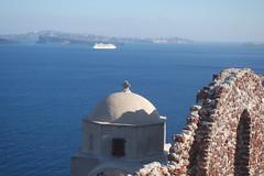Oia, Santorini (sandorson) Tags: oia santorini greece cyclades thira island church marine aegean ship
