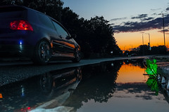 Highway to hell (Paul wrights reserved) Tags: car cars reflection reflections reflectionphotography water puddle puddlephotography sky skyscape skyscapes