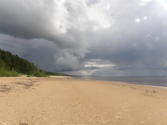 The beach of Baltic sea (olaf_alien) Tags: pabaži saulkrastunovads latvia balta kapa latvija saulkrasti olafalien beach storm clouds sea dark sand nature landscape forest olympus sp560uz baltā kāpa white dune baltic