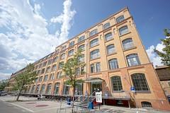 AUFGANG I (jo.schz) Tags: germany a architecture berlin schönweide trees p sign i blue 1 aufgang htw brick building parking