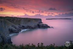 18 @ Where Sea Meets Land (Marcell Jarvas) Tags: manorbier pembrokeshire wales sea seascape sunrise rocks cliffs clouds longexposure sony a7rii voigtlander 40mmf12