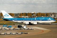 KLM                                        Boeing 747                                   PH-BFW (Flame1958) Tags: klm klmb747 b747 boeing747 747 phbfw ams eham 151003 1003 2003 amsterdamairport schiphol amsterdamschiphol scan print