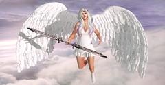 TOUCHED BY AN ANGEL ... (Musaax) Tags: akdeluxe ak {rp} 50lindenfriday akeruka artko astrology bentomeshavatar gacha maitreya musaax on9 on9event reinaphotography secondlife sl cute kawaii angel sky clouds