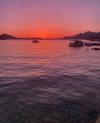 Rose-tinted sunglasses sunset (markshephard800) Tags: reflections adriatic mediterranean boats sun sea rosey pink red croatia sunset