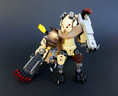 Zesky, Wasteland Mechanic (Pohaturon) Tags: bionicle lego moc creation build postapocalyptic bike vehicle zesk scorpion afol technic ccbs constraction g1