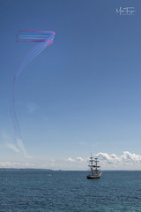 7 Sea's! (miketonge) Tags: redarrows guernsey stpeterport aircraft airshow channelislands ship nautical jets airobatic
