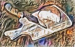 Knife, bread, board (V_Dagaev) Tags: stilllife art digital dynamicautopainter painterly painting visualdelights
