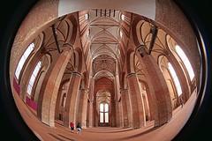 St. Georgen (Rolf Dietrich Brecher) Tags: fisheye meike2065mm 190° gotik backsteingotik stgeorgenwismar wismar kirche mittelalter gewölbe