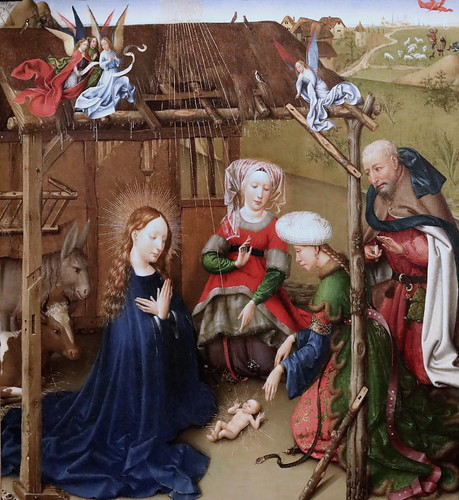 IMG_3127A Jacques Daret 1400-1468 Tournai La Nativité The Nativity  1435 Madrid Thyssen-Bornemisza.